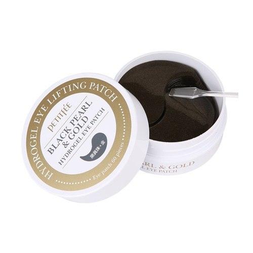 Гидро-гелевые патчи для век Petitfee Black Pearl & Gold Hydrogel Eye Patch с чёрным жемчугом и коллоидным золотом