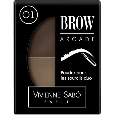 Тени для бровей Vivienne Sabo Brow Arcade двойные