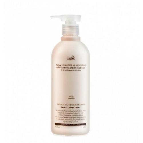 Безсульфатный органический шампунь с эфирными маслами Lador Triplex Natural Shampoo