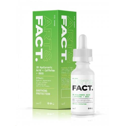 Сыворотка для лица с кофеином ART&FACT (3D Hyaluronic Acid + Caffeine + EGCG)