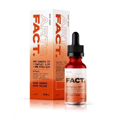 Мультипептидная сыворотка-активатор для роста и густоты волос ART&FACT (AHA Complex 2% + Capixyl 1,3% + HMA Silk 0,5%), 30 ml