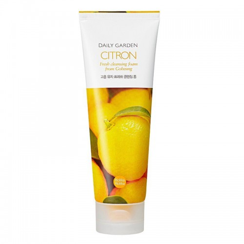 Очищающая пенка Holika Holika Daily Garden Citron Fresh cleansing foam from Goheung