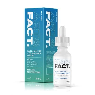 Сыворотка пилинг для лица с молочной кислотой ART&FACT (Lactic Acid 10% + 3D Hyaluronic Acid 2%)