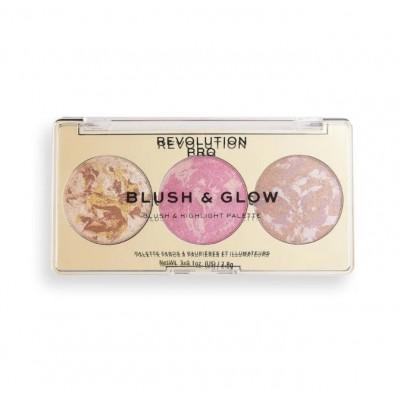 Румяна, бронзер и хайлайтер 3 в 1 Revolution PRO BLUSH & GLOW, Rose Glow