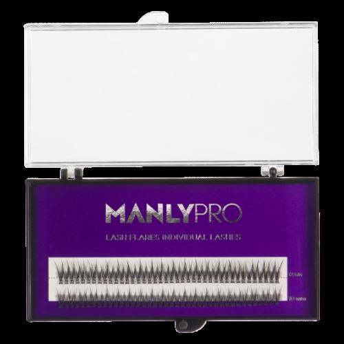 Набор ресниц Manly PRO в пучках шелк 10, 12 мм. РП09