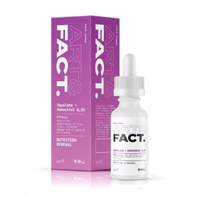 Сыворотка для лица с раст. аналогом ретинола (бакучиол) в сквалане ART&FACT (Backuchi 0,5%), 30ml
