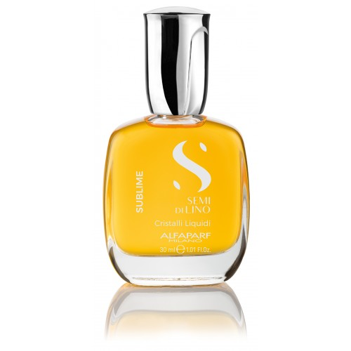 Масло против секущихся кончиков, придающее блеск Alfaparf Milano Semi Di Lino Sublime Cristalli Liquidi, 30 мл