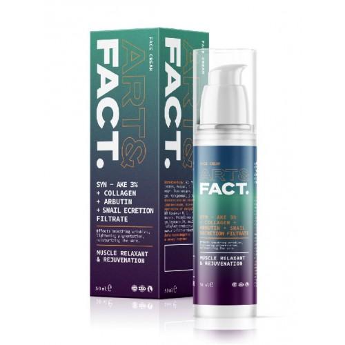 Антивозрастной увлажняющий крем для лица ART&FACT (SYN-AKE 3% + Collagen), 50 ml