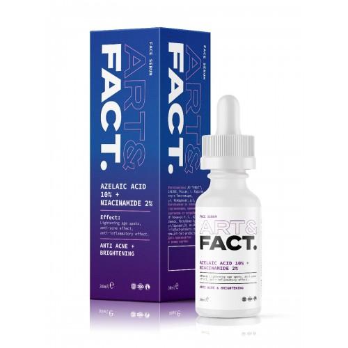 Противовоспалительная анти-акне сыворотка ART&FACT (Azelaic acid 10% + Niacinamide 2%)