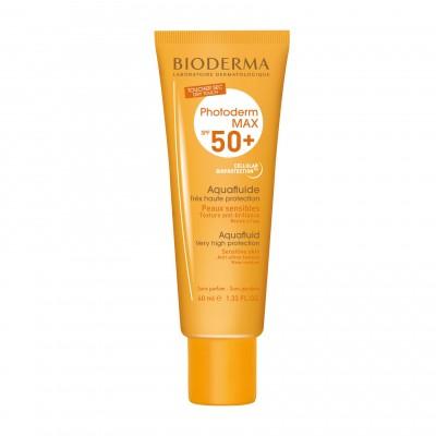 Солнцезащитный флюид для нормальной и комбинированной кожи Bioderma Photoderm MAX Аквафлюид SPF50+, 40 мл.