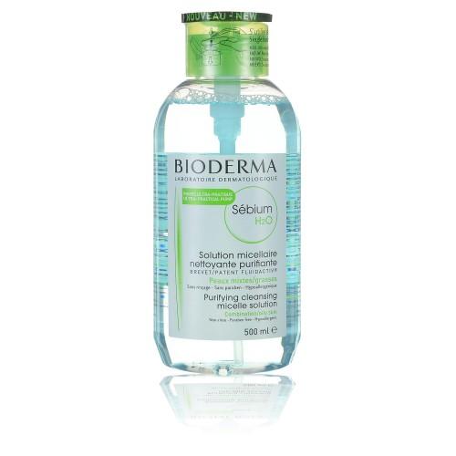 Очищающая мицеллярная вода (помпа)  Bioderma Sebium H2O, 500 мл
