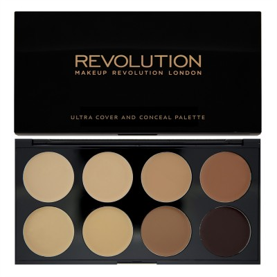 Палетка консилеров Revolution Makeup Ultra Professional Cover & Concealer Palette Medium-Dark