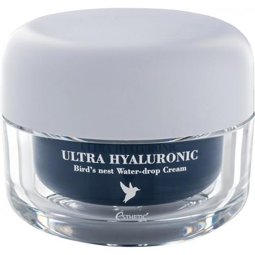 Крем с гиалуроновой кислотой и экстрактом птичьих гнёзд Ultra Hyaluronic Acid Bird's Nest Cream Esthetic House