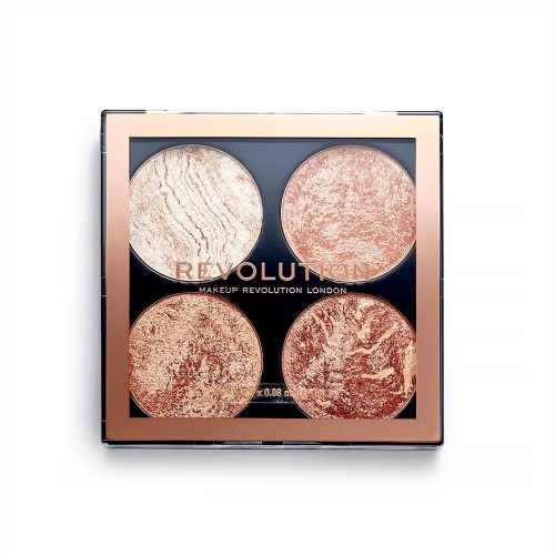 Палетка для макияжа Revolution Makeup 4 в 1 Cheek Kit, Don't Hold Back
