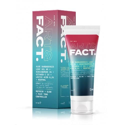 Охлаждающая экспресс-маска для лица ART&FACT (Aloe Barbad Leaf Gel 4% + Niacinamide 3%), 50 ml
