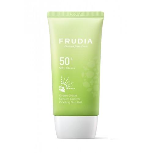 Солнцезащитный гель с зеленым виноградом себорегулирующий  Frudia Green Grape Sebum Control Cooling Sun Gel SPF50+/PA++++