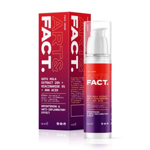 Восстанавливающий и обновляющий крем для лица ART&FACT (GotuKola20% + Niacinamide5% + AHA acid)