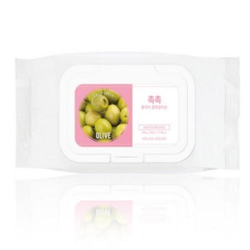 Очищающие салфетки для удаления макияжа Holika Holika Daily Fresh Olive Cleansing Tissue