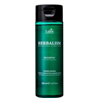 Слабокислотный травяной шампунь с аминокислотами Lador Herbalism Shampoo, 150 мл.