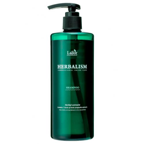 Слабокислотный травяной шампунь с аминокислотами Lador Herbalism Shampoo, 400 мл.