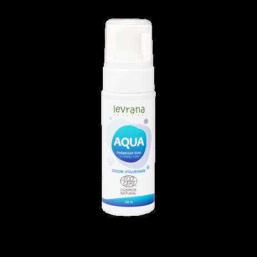 Пенка для умывания AQUA, с гиалуроновой кислотой LEVRANA, 150 мл.