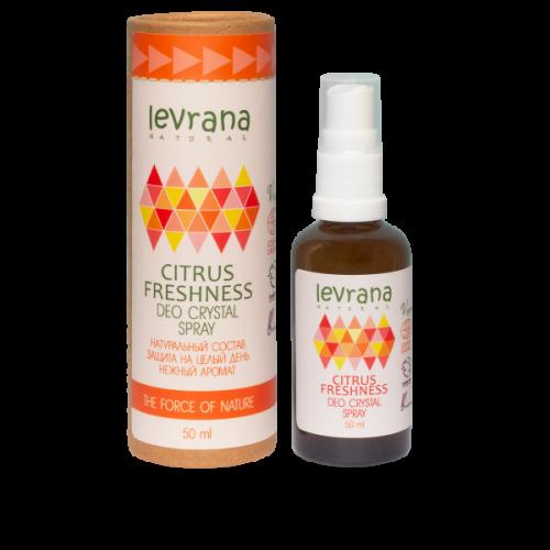 Натуральный дезодорант LEVRANA «Цитрусовая свежесть», 50 мл