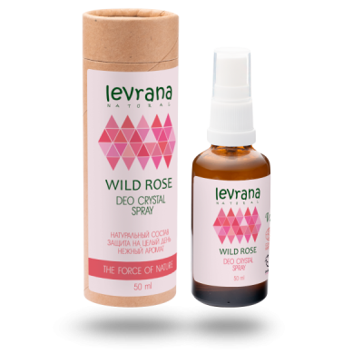 Натуральный дезодорант LEVRANA «Дикая роза», 50 мл