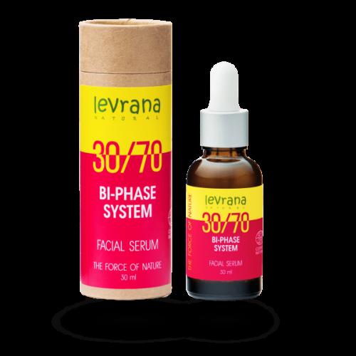 Двухфазная сыворотка для лица LEVRANA 30/70 с маслом Дамасской розы, 30 мл.