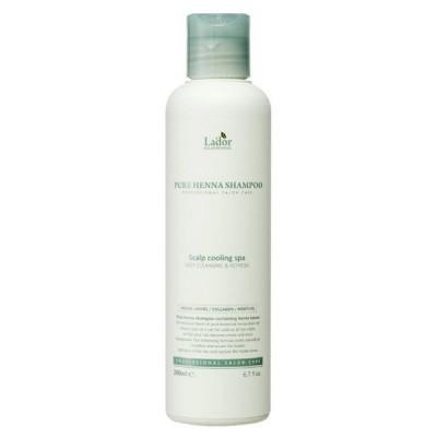 Укрепляющий шампунь с кактусом, хной и ментолом Lador Pure Henna Shampoo, 200 мл