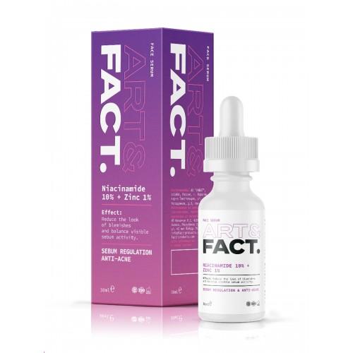 Сыворотка для лица с цинком и ниацинамидом ART&FACT (Niacinamide 10% + Zinc 1%)