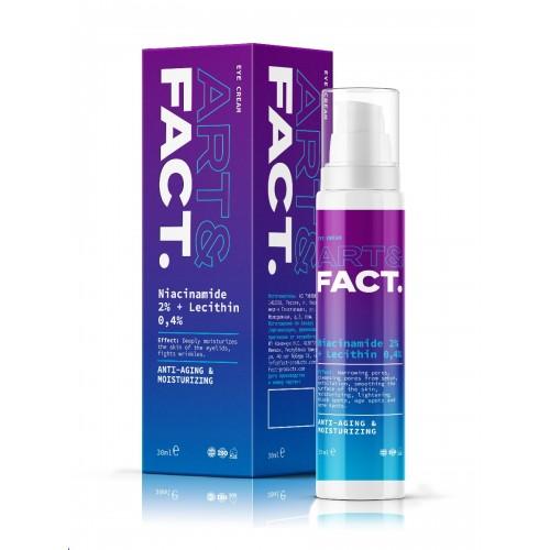 Увлажняющий крем для кожи вокруг глаз ART&FACT (Niacinamide 2% + Lecithin 0,4%)