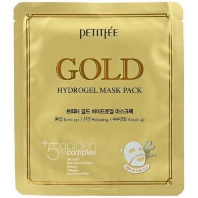 Маска для лица гидрогелевая с золотом Petitfee Gold Hydrogel Mask Pack