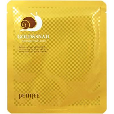 Маска для лица гидрогелевая Petitfee Gold&Snail Hydrogel Mask Pack
