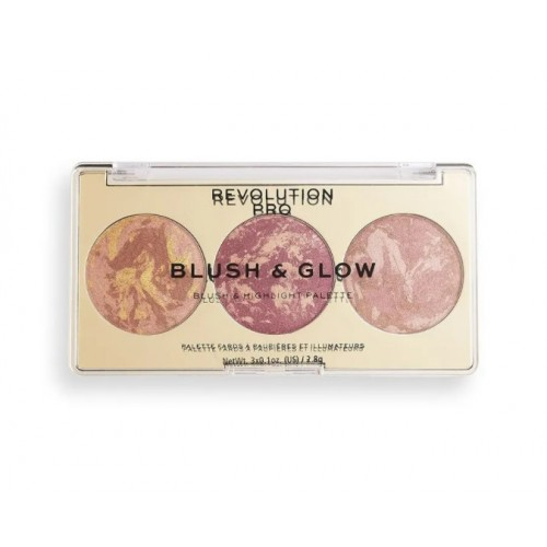 Румяна, бронзер и хайлайтер 3 в 1 Revolution PRO BLUSH & GLOW, Cranberry Glow