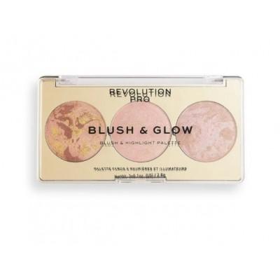 Румяна, бронзер и хайлайтер 3 в 1 Revolution PRO BLUSH & GLOW, Peach Glow