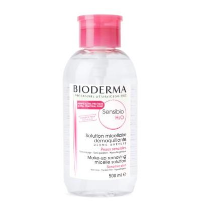 Мицеллярная вода для чувствительной кожи Bioderma Sensibio H2O с помпой, 500 мл.